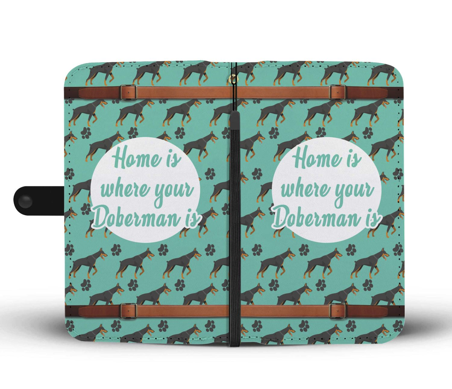 Home Is Where Your Doberman Is Wallet Phone Case