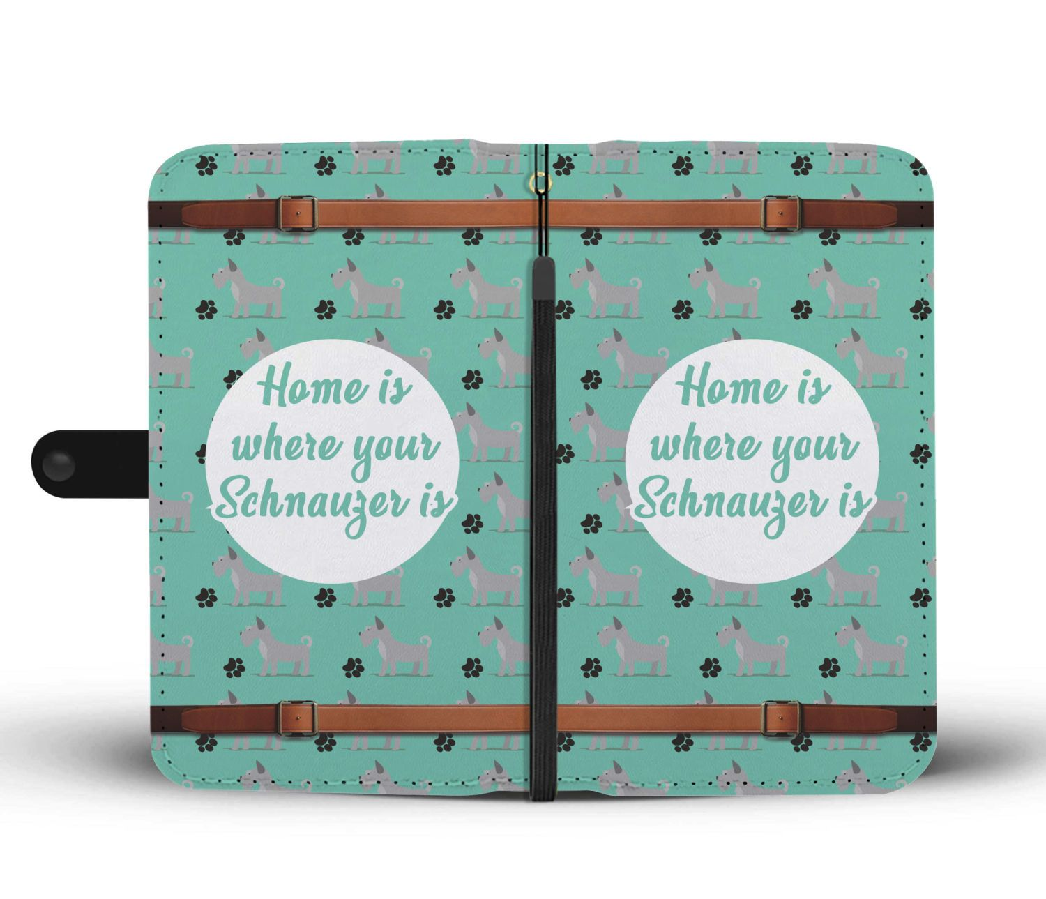 Home Is Where Your Schnauzer Is Wallet Phone Case