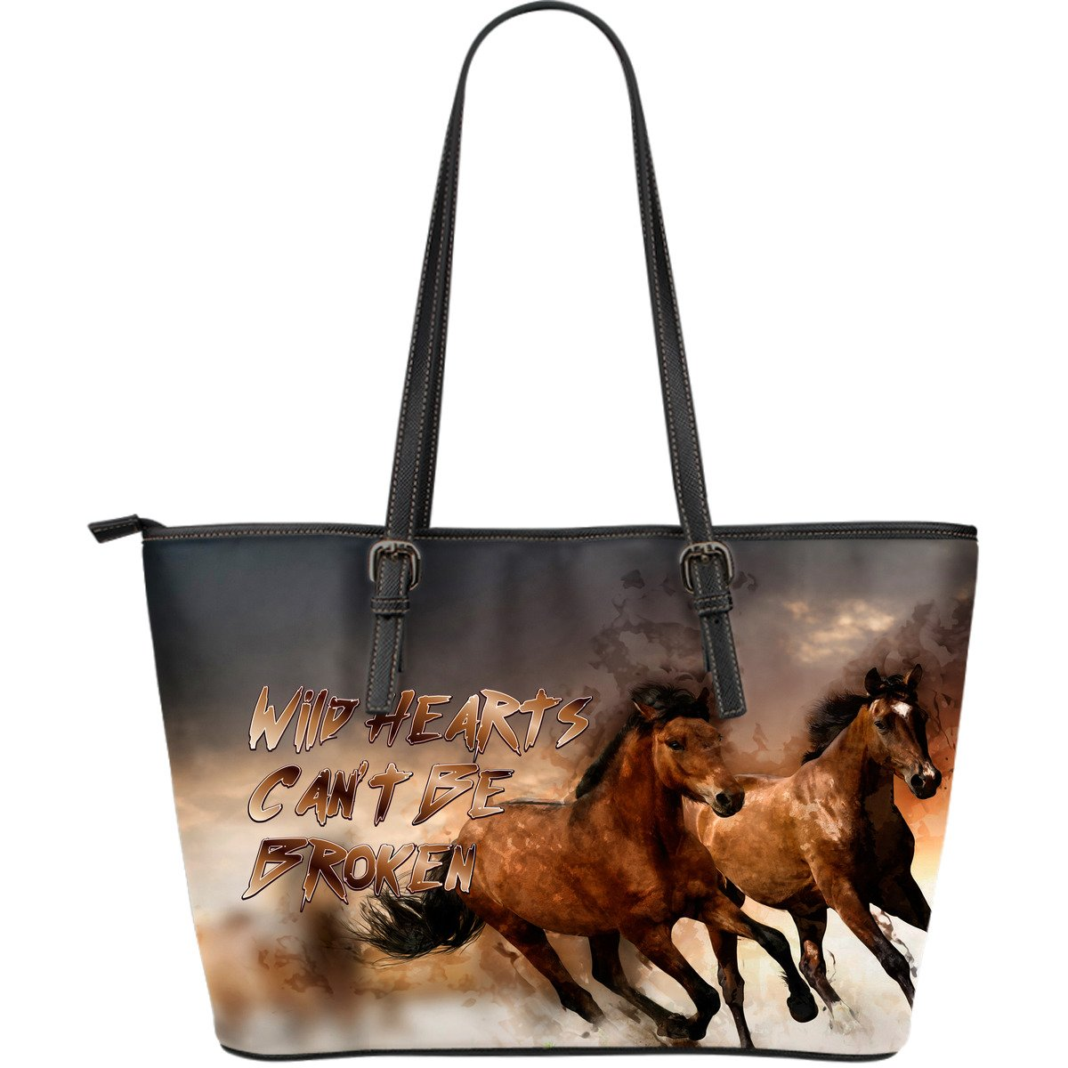 Horse Bag - Wild Hearts Can't Be Broken Premium Leather Tote