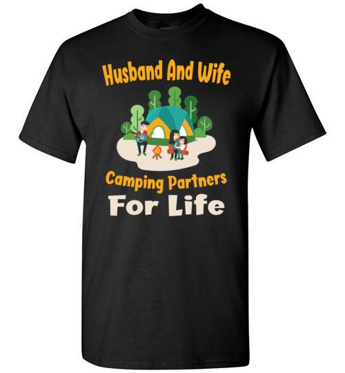 Husband And Wife Camping Partners For Life T-shirt - Snappy Creations