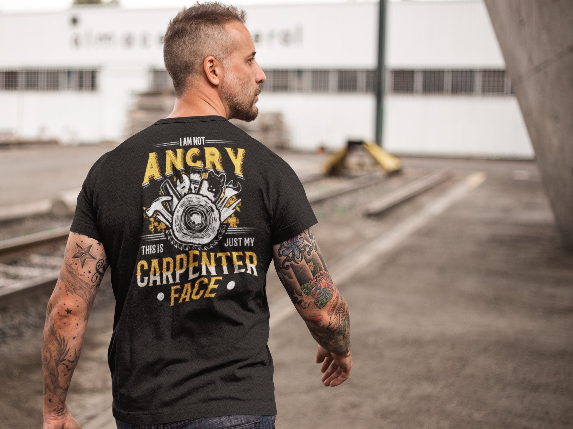 I Am Not Angry This Is Just My Carpenter Face Funny Carpenter T-shirt - Snappy Creations
