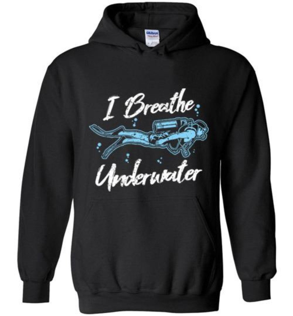 I Breathe Underwater Funny Scuba Diving T-Shirt