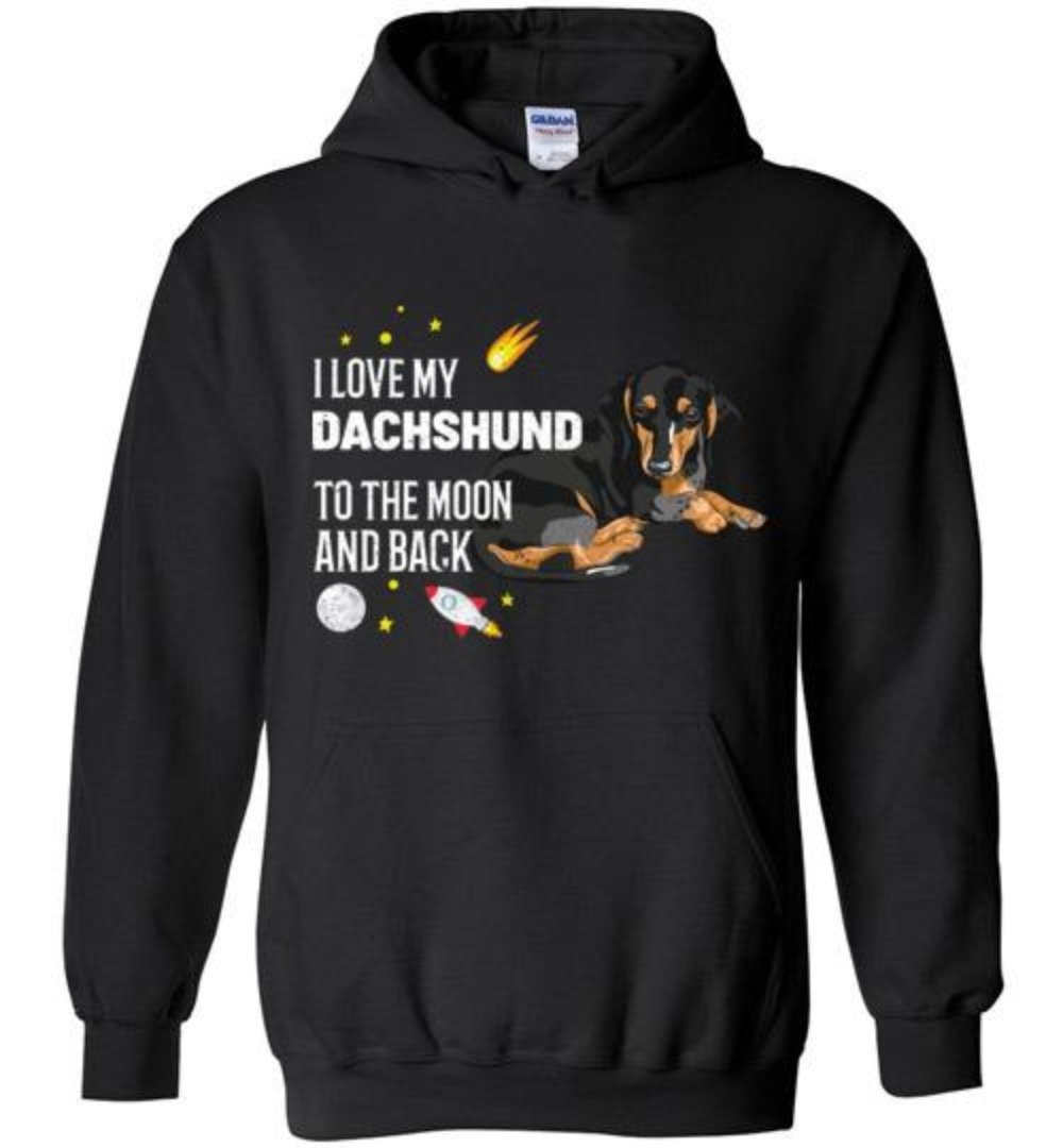 I Love My Dachshund To The Moon And Back T-Shirt