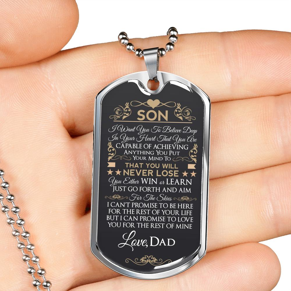 Dad To Son Necklace
