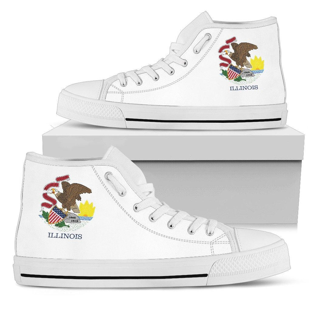 Illinois State Flag Men's High Top And Low Top Shoes - Snappy Creations