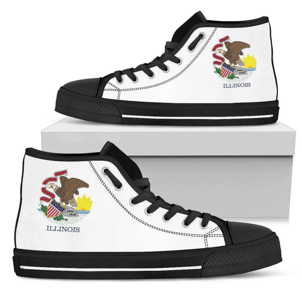 Illinois State Flag Women's High Top And Low Top Shoes - Snappy Creations