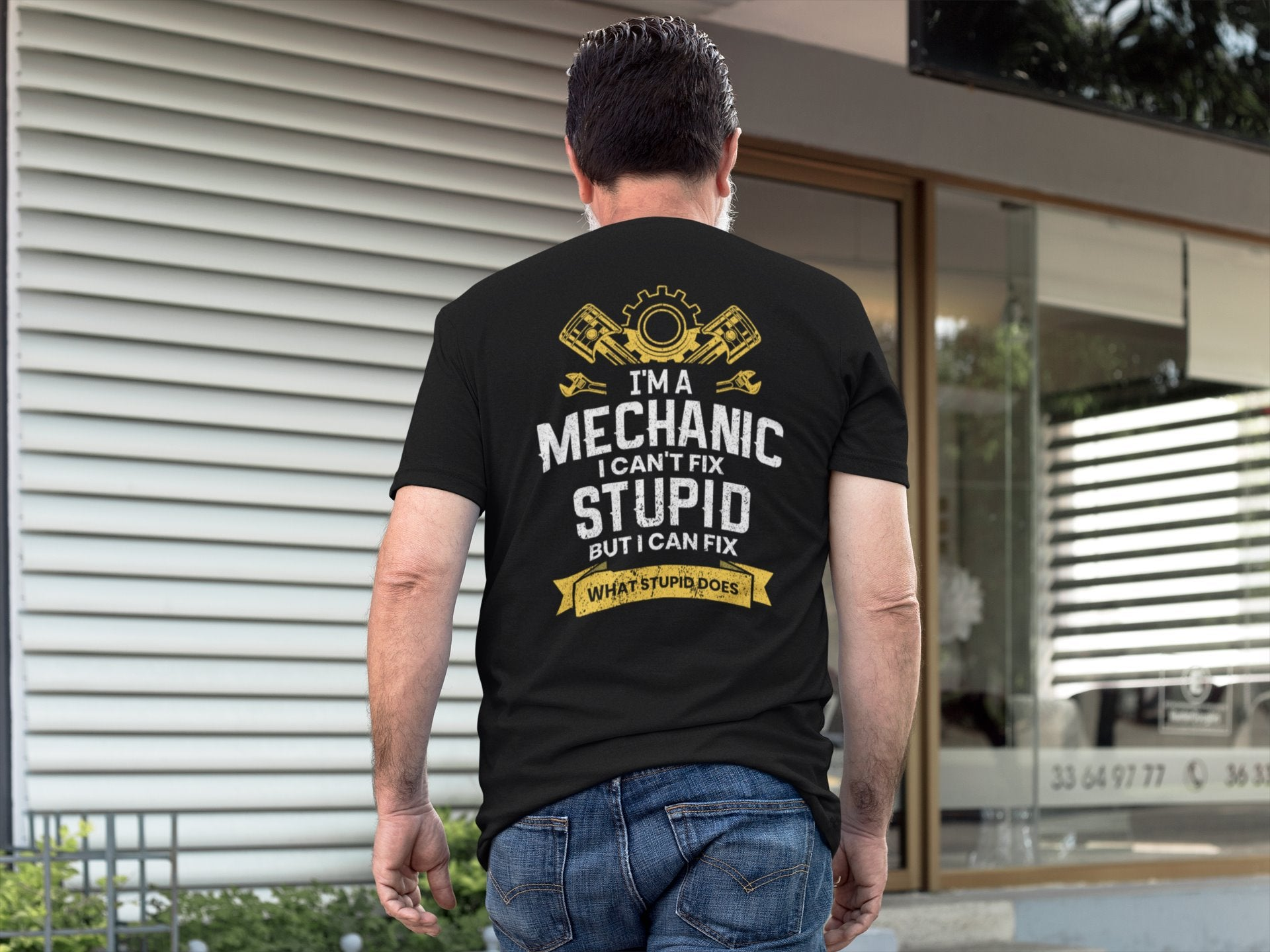 I'm A Mechanic I Can't Fix Stupid Funny Mechanic T-shirt - Snappy Creations