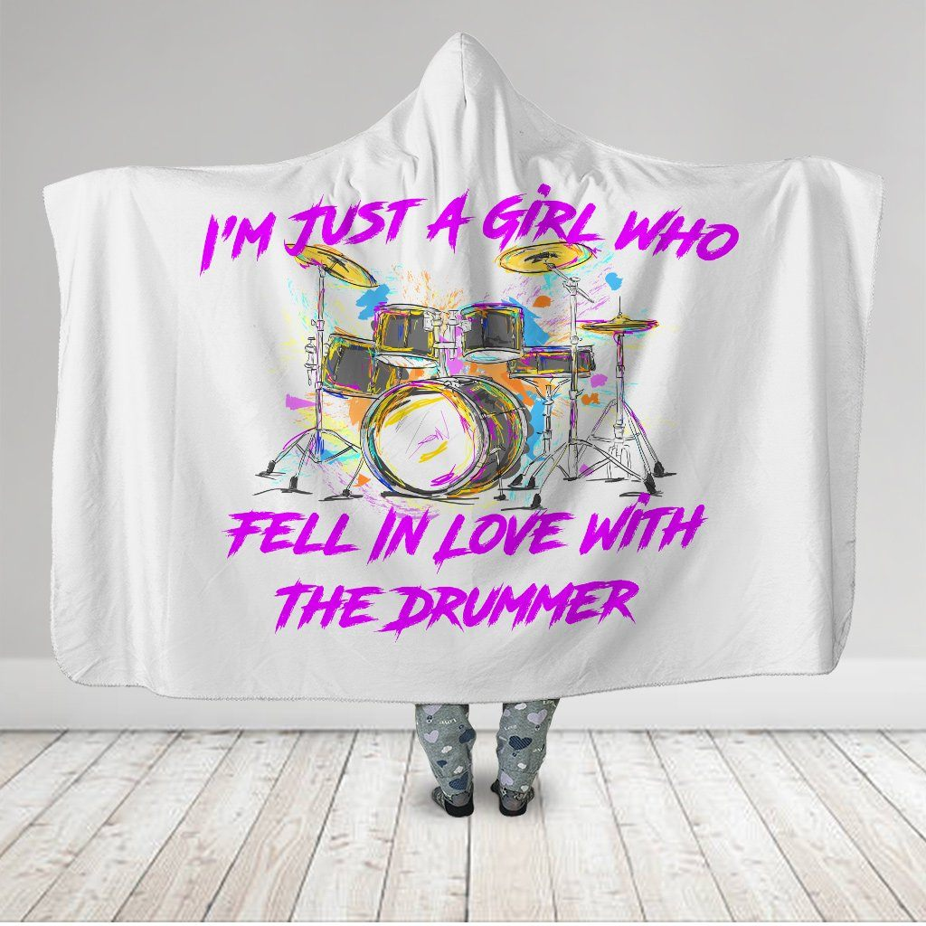 I'm Just A Girl Who Fell In Love With The Drummer Hooded Blanket - Snappy Creations