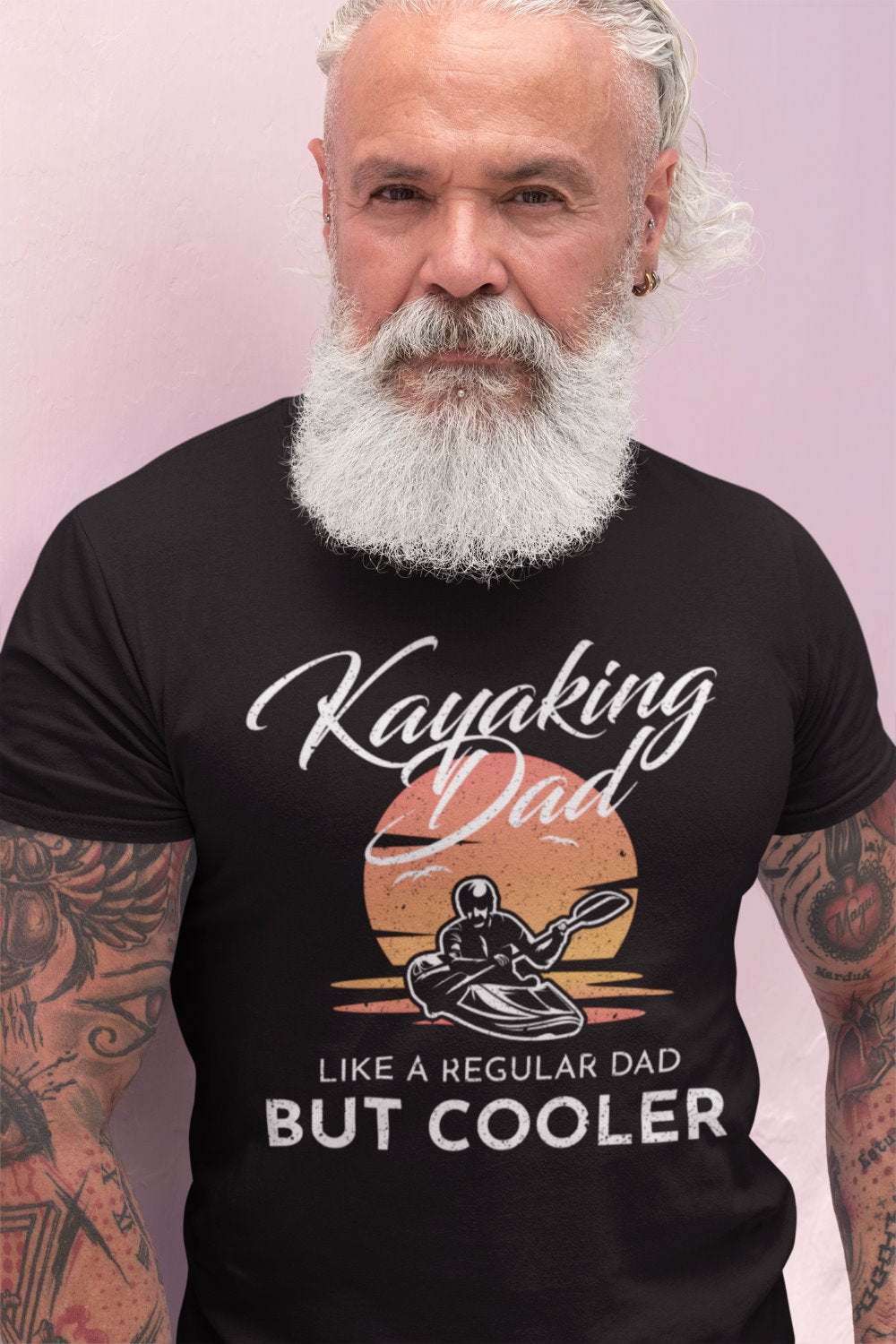 Kayaking Dad Like A Regular Dad But Cooler Funny Kayaking T-Shirt