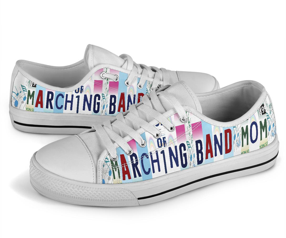 Marching Band Mom Low Top Canvas Shoes - Snappy Creations