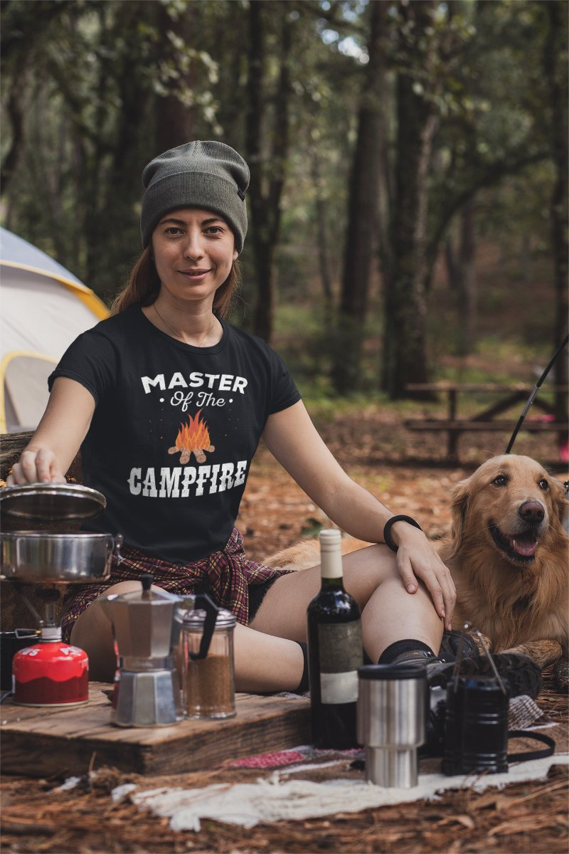 Master Of The Campfire Funny Camping T-Shirt - Snappy Creations