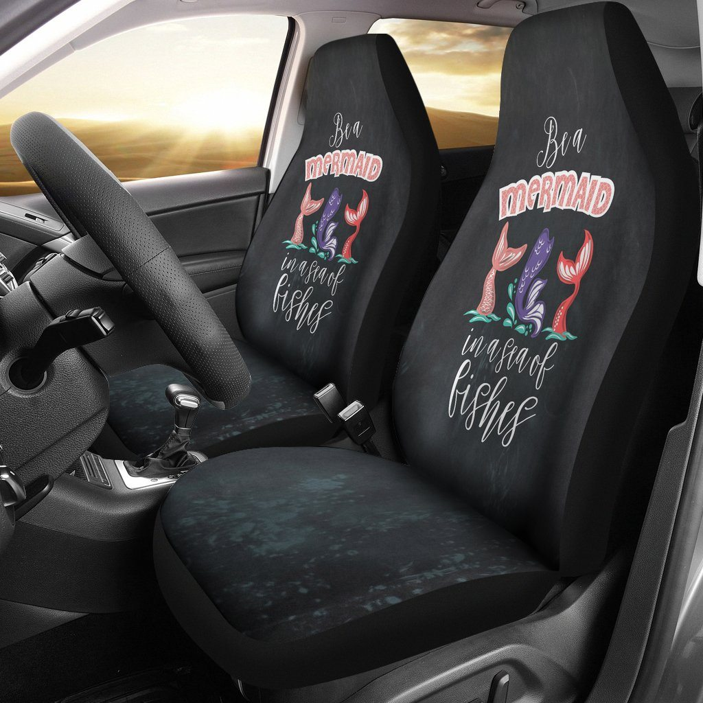 Mermaids - Be A Mermaid In A Sea Fishes Universal Fit Car Seat Covers