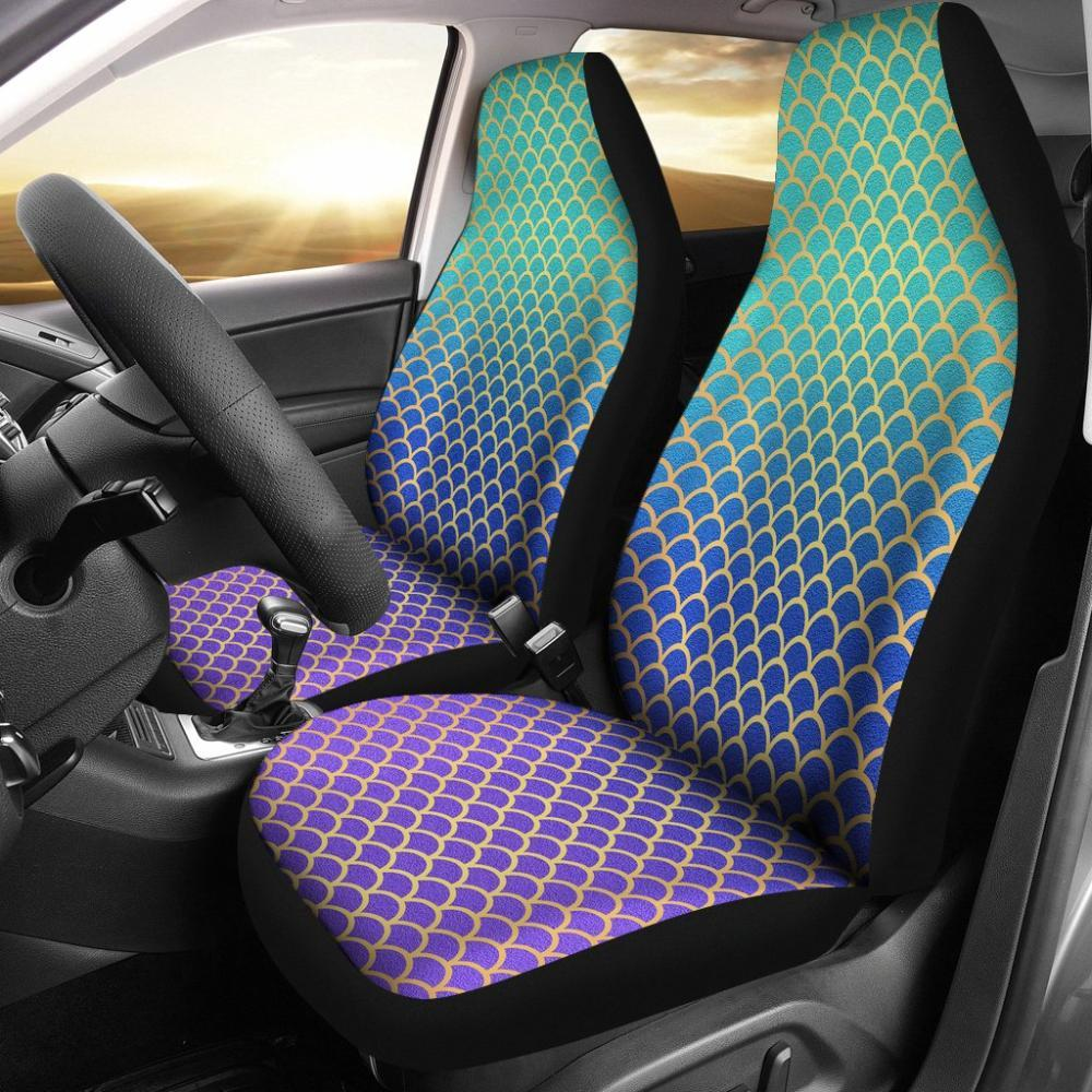 Mermaids - Mermaid Colorful Scales Universal Fit Car Seat Covers