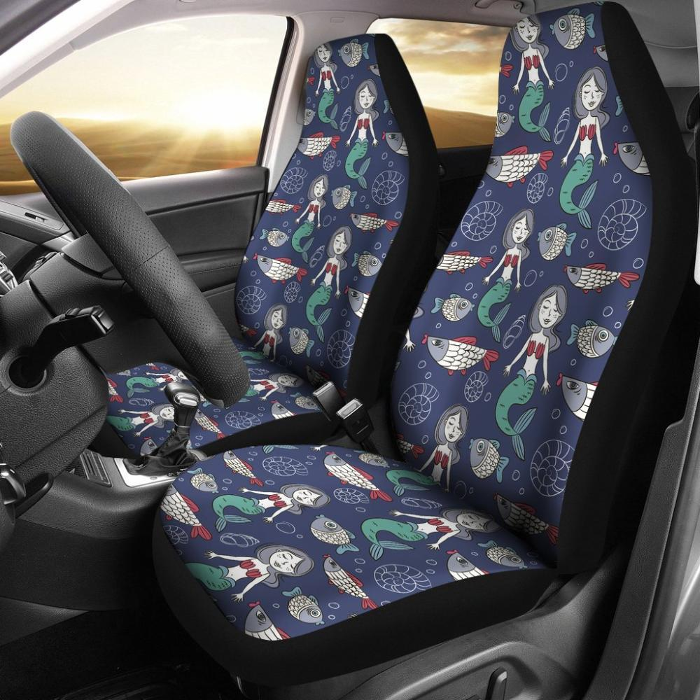 Mermaids - Mermaid Pattern Print Universal Fit Car Seat Covers