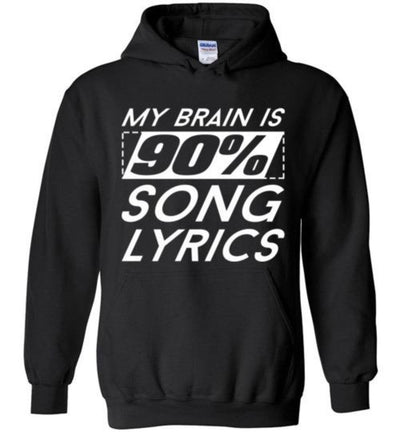 My Brain Is 90% Song Lyrics Singing T-Shirt