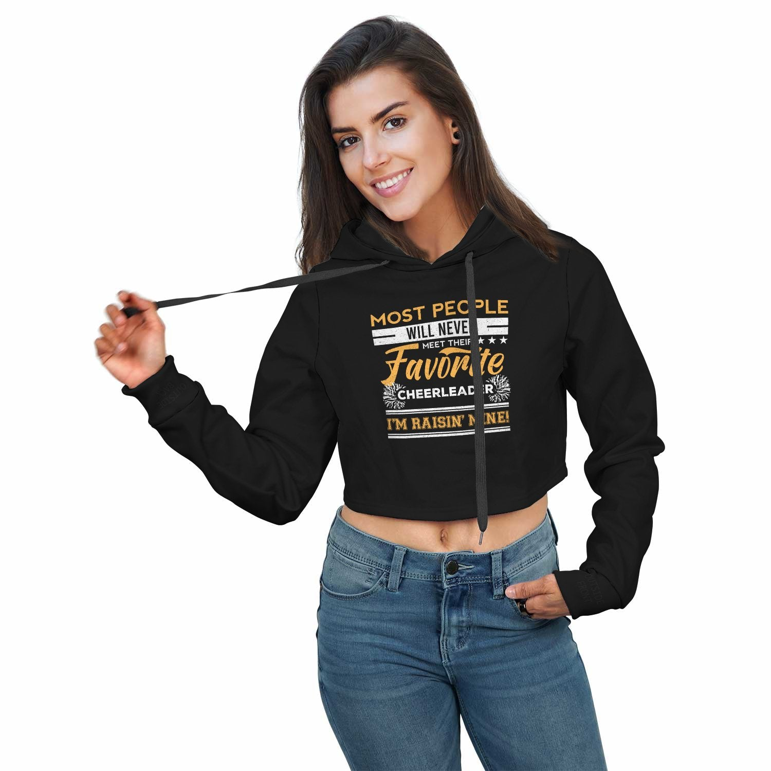 Cheerleading Crop Top Hoodie