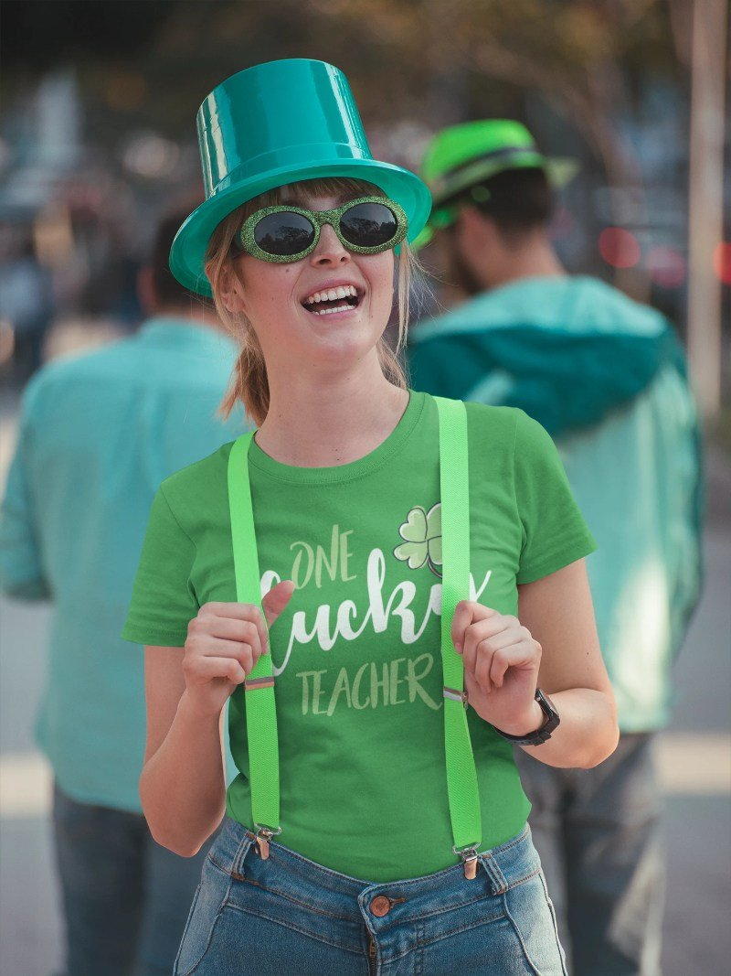 One Lucky Teacher Funny St. Patrick's Day Irish T-shirt - Snappy Creations