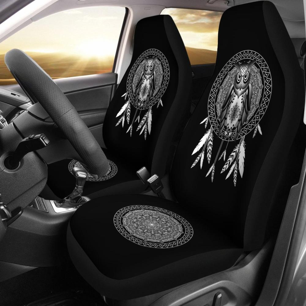 Owl Lovers - Owl Car Seat Covers - Owl & Dream Catcher Universal Fit Car Seat Covers