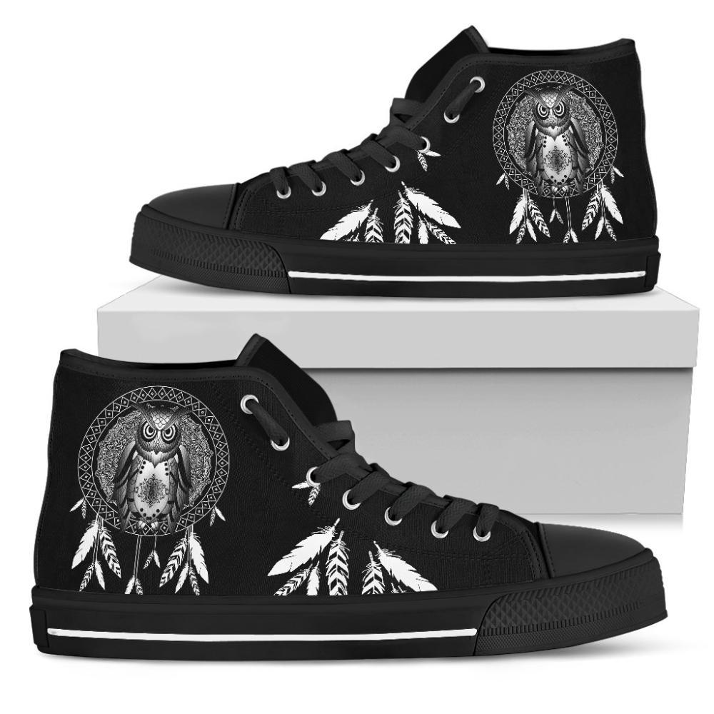 Owl Lovers - Owl Women's High Top Shoes - Owl & Dream Catcher Women's High Top Shoes