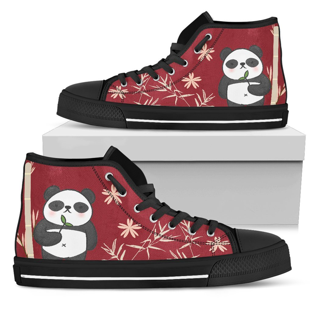 Panda Women's Canvas High Top Shoes - Snappy Creations
