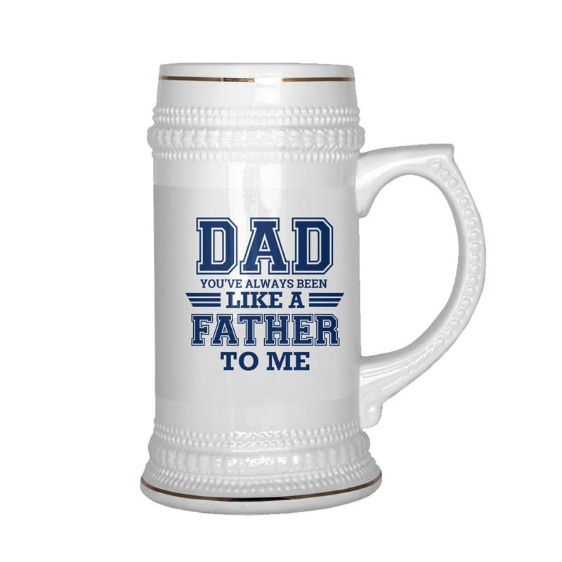 Father's Day Gift - Dad Always Been Like A Father Beer Stein - Snappy Creations