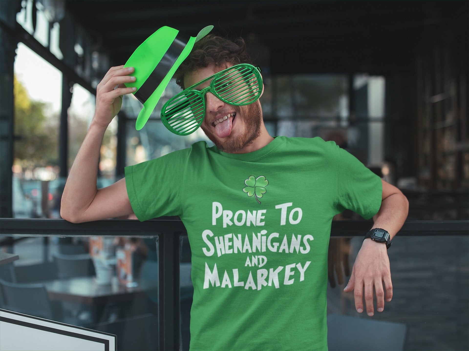 Prone To Shenanigans And Malarkey Funny St Patrick's Day Irish T-shirt - Snappy Creations