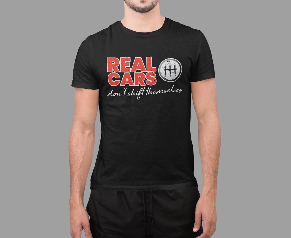 Real Cars Don't Shift Themselves Funny Car Racing T-Shirt
