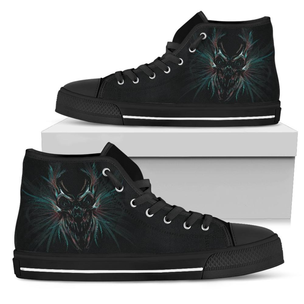Skulls - Skull Women's High Top Shoes - Colorful Skull Design