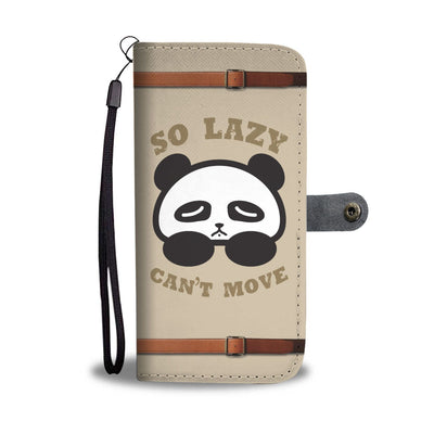 So Lazy Can't Move Cute Panda Wallet Phone Case