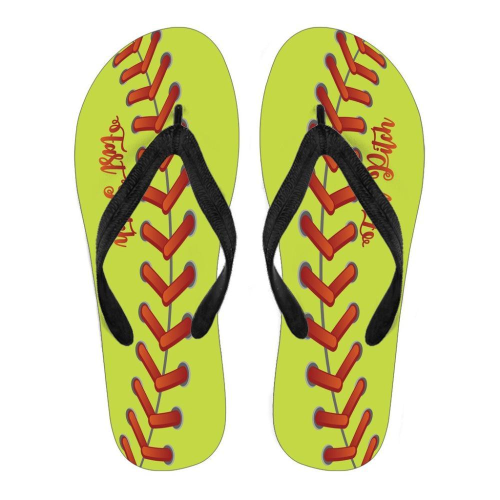Softball - Softball Women's Flip Flops - Fast Pitch