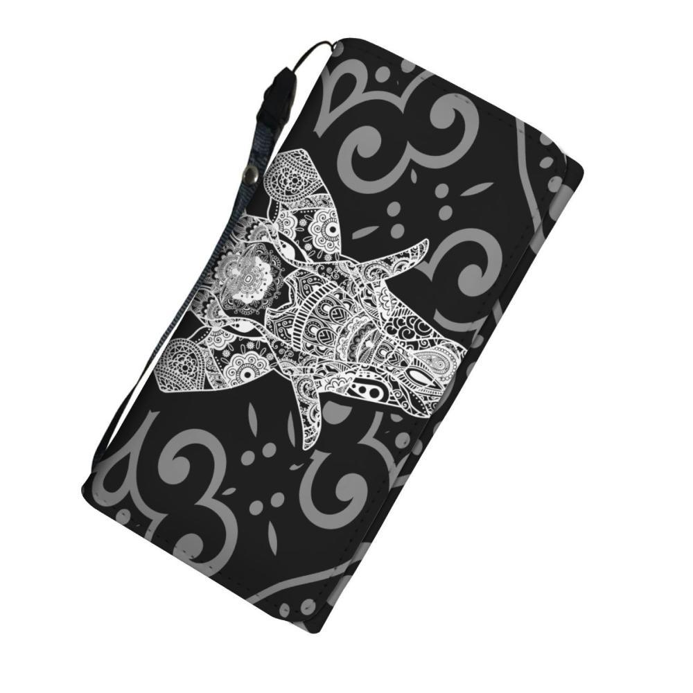 Testing 1 - Black & White Elephant Print Women's Wallet