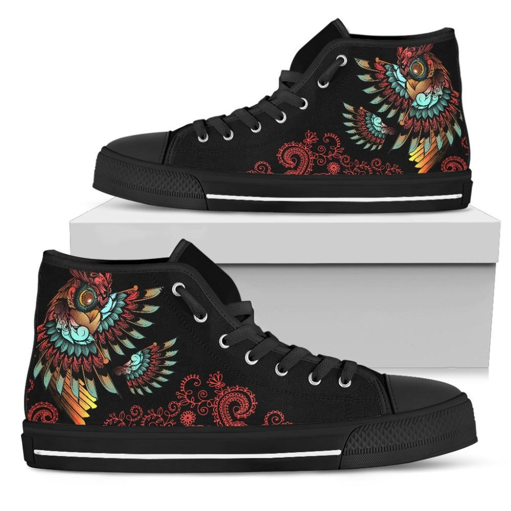 Testing 1 - Colorful Owl Wings Women's High Tops