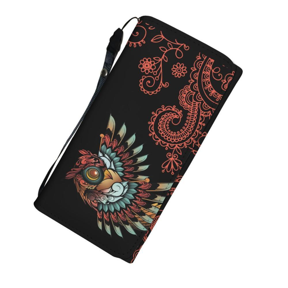Testing 1 - Owl Women's Wallet - Owl Wings Design