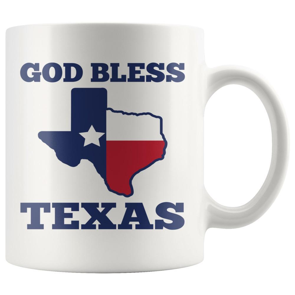 Texas Mug - God Bless Texas Custom White Mug