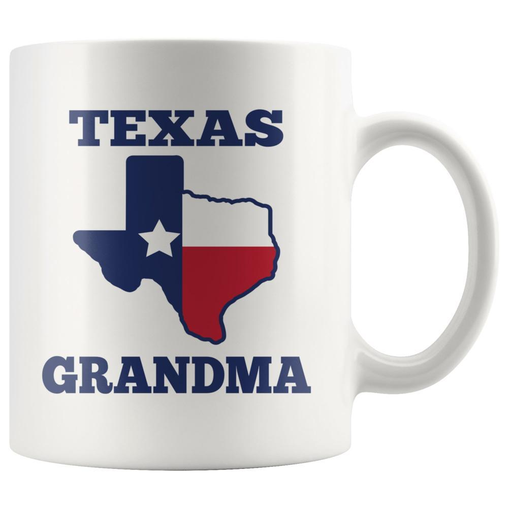 Texas Mug - Texas Grandma Custom White Coffee Mug