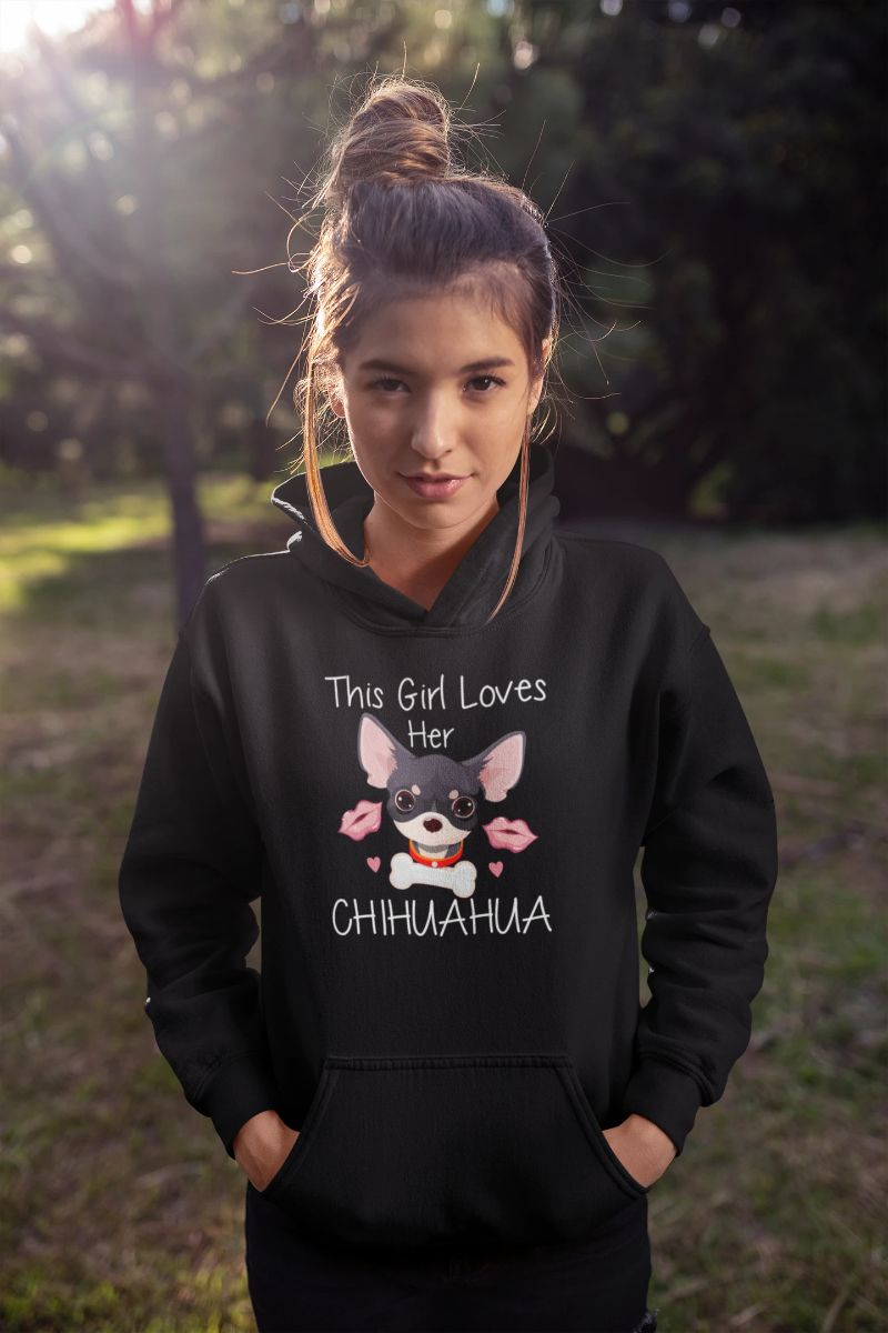 This Girl Loves Her Chihuahua T-shirt - Snappy Creations