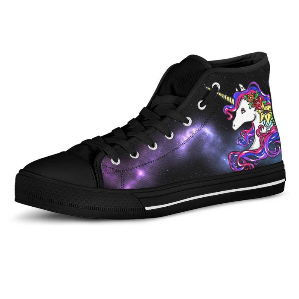Galaxy Unicorn Women's High Top Shoes - Snappy Creations