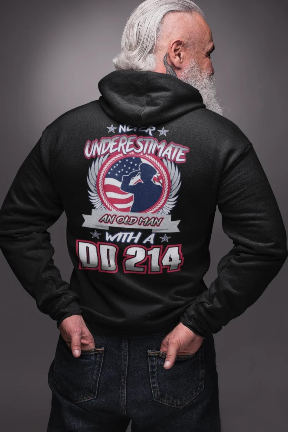 Never Underestimate An Old Man With DD 214 T-Shirt, Hoodie, Tank Top - Snappy Creations