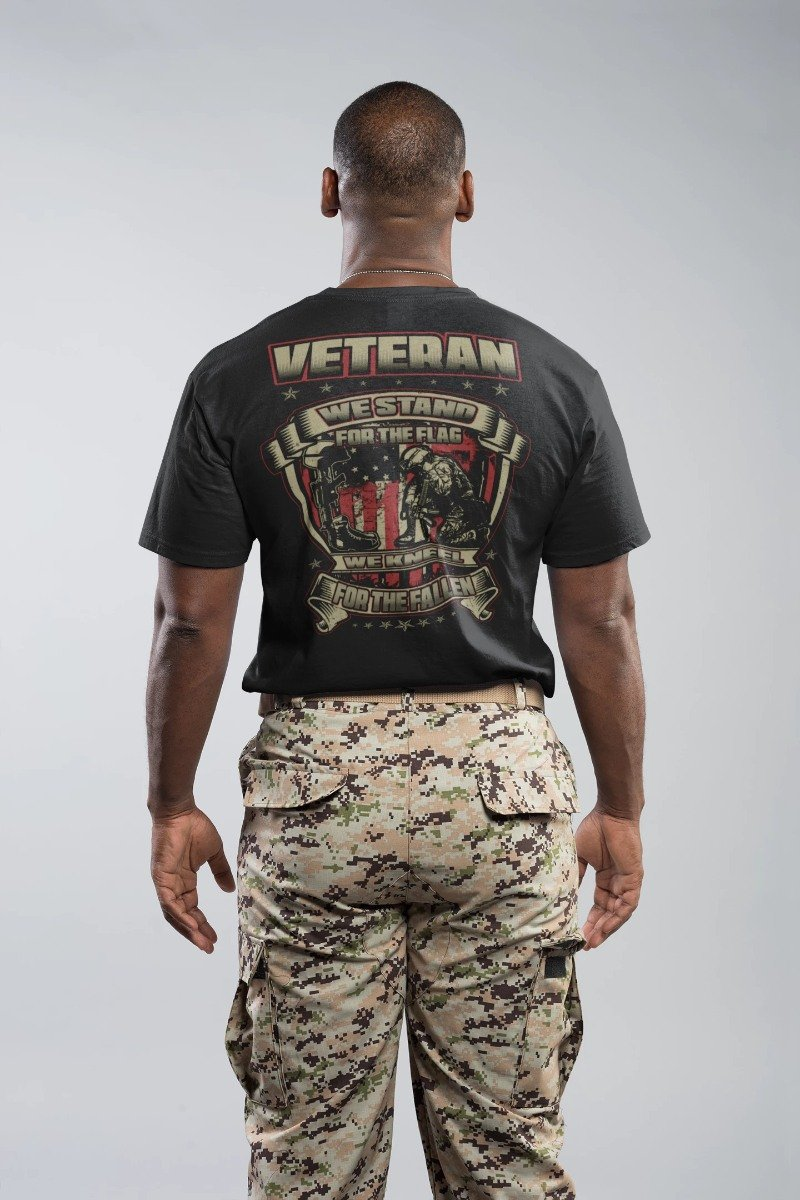 We Stand For The Flag Veteran T-Shirt, Hoodie, Tank Top - Snappy Creations