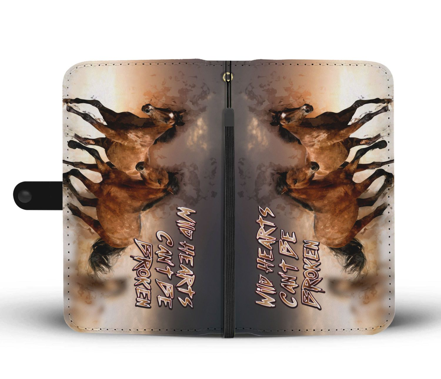 Wild Hearts Can't Be Broken - Horse Wallet Phone Case