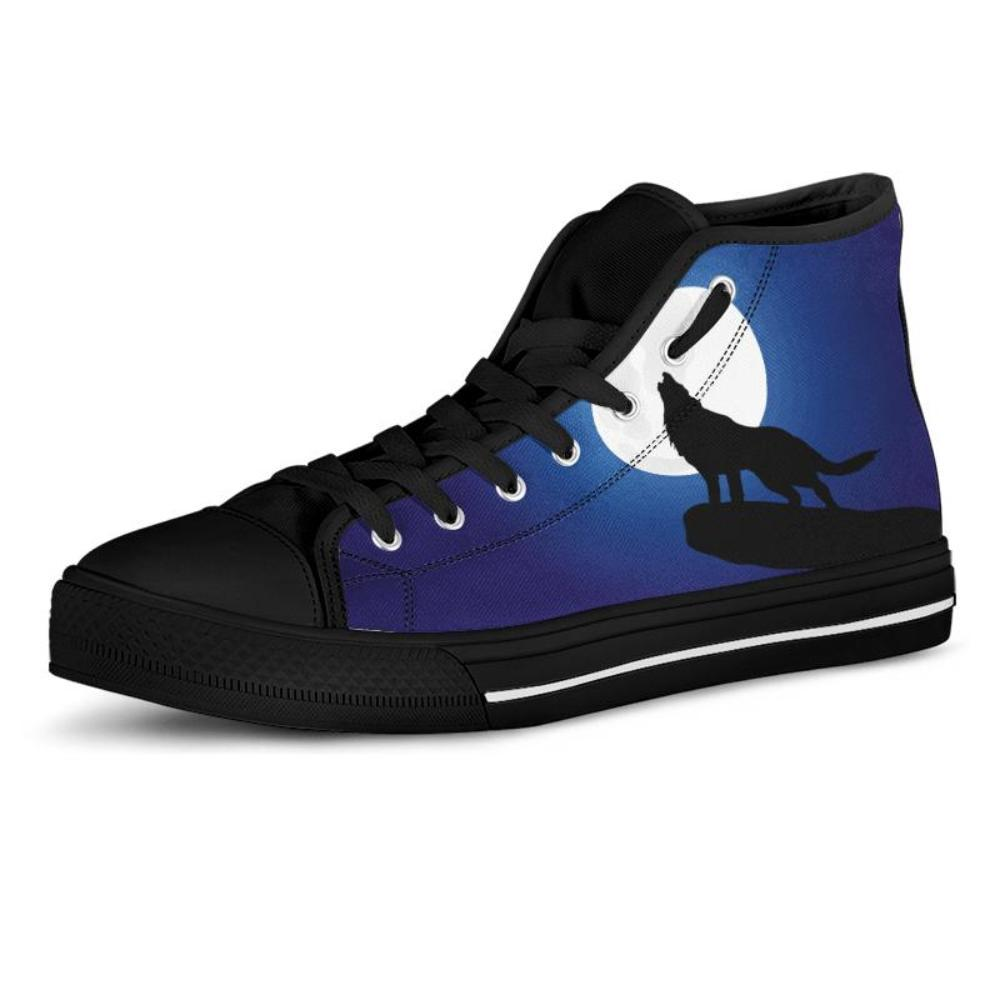 Wolves - Wolves Men's High Top Shoes Howling Wolf