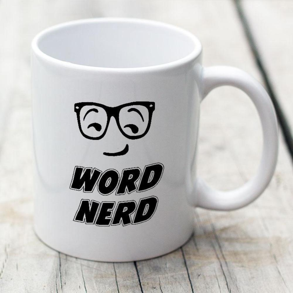 Word Nerd White Coffee Mug For Writers - Snappy Creations