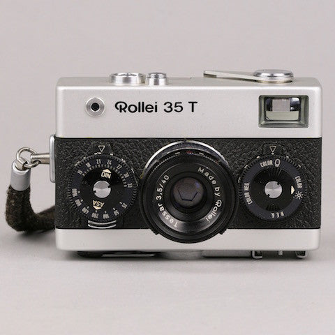 Rollei 35 T 35mm Film Camera Made in Singapore With Tessar 40mm, f/3.5 Lens
