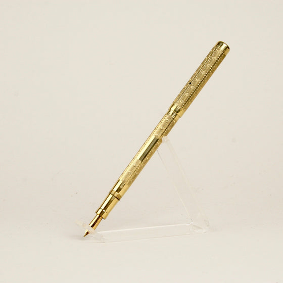 "Mabie Todd ""Swan"", Clipless, Broad Stub Nib, Gold-filled, Lever Fill Fountain Pen in Excellent Condition"