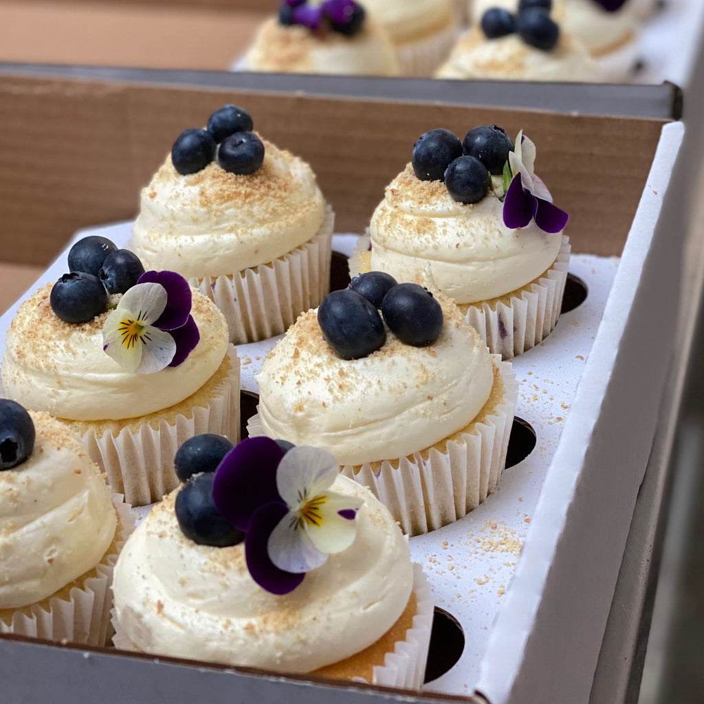 Blueberry Vanilla Cupcake