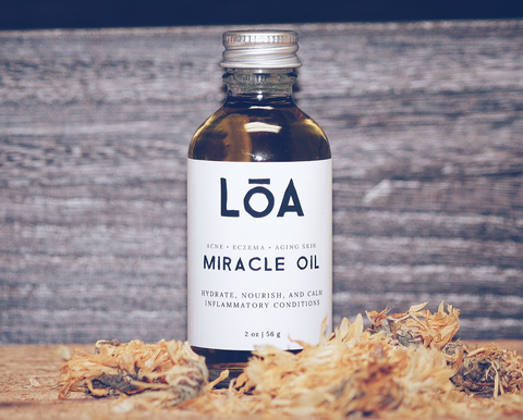 Miracle Oil skin care for acne and eczema