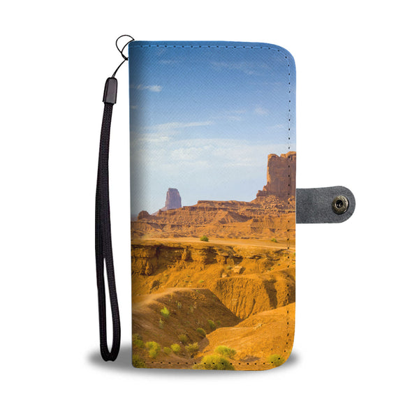 Monument Valley Scene Wallet Phone Case - John Ford Point