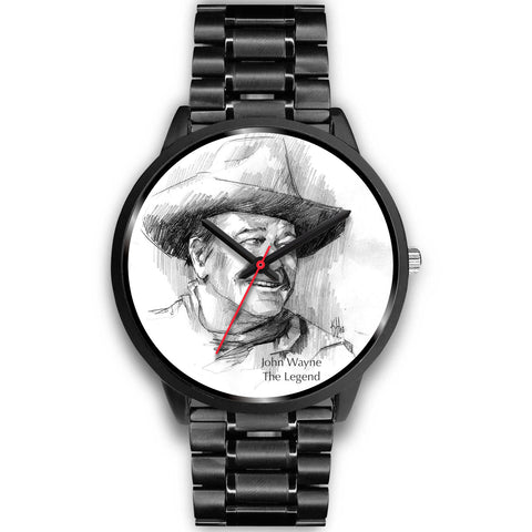 "John Wayne Watch - Quality Black Custom Design ""The Legend"""