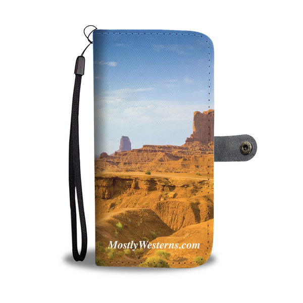 Monument Valley Wallet Phone Case by MostlyWesterns.com