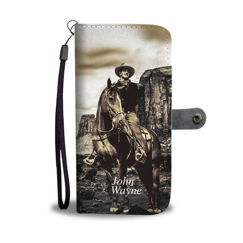 Stunning John Wayne Phone Wallet Case - on beautiful horse